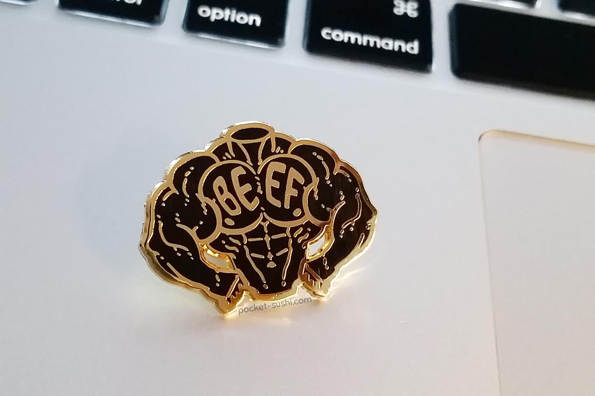 BEEF Enamel Pin by neekko