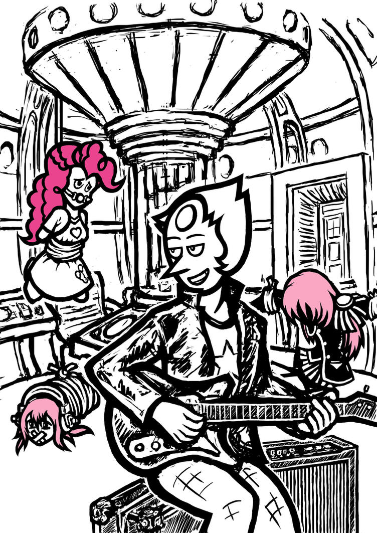 Radical Bad Pearl - Pink Hair Hunter by uselessengineer