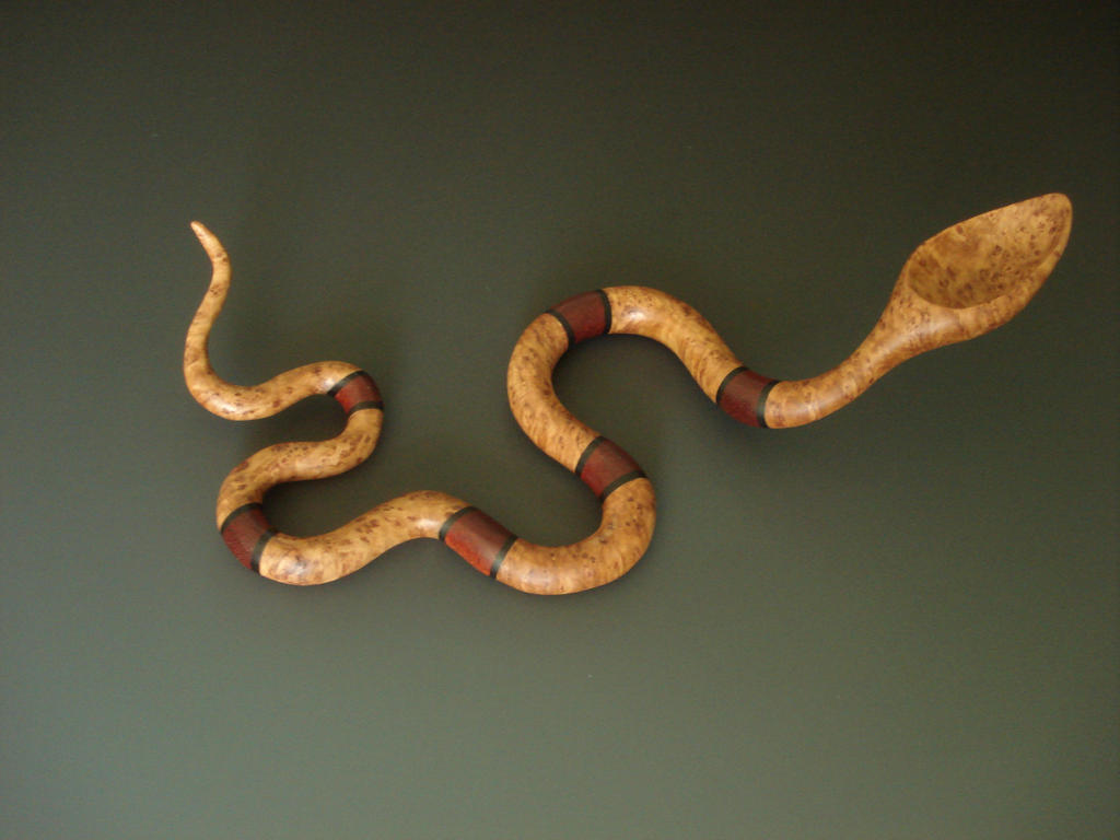 Banded Snake wooden spoon by Sp00ntaneous