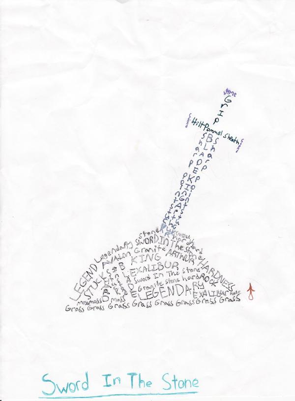 Heart Concrete Poem Excalibur a Concrete Poem by