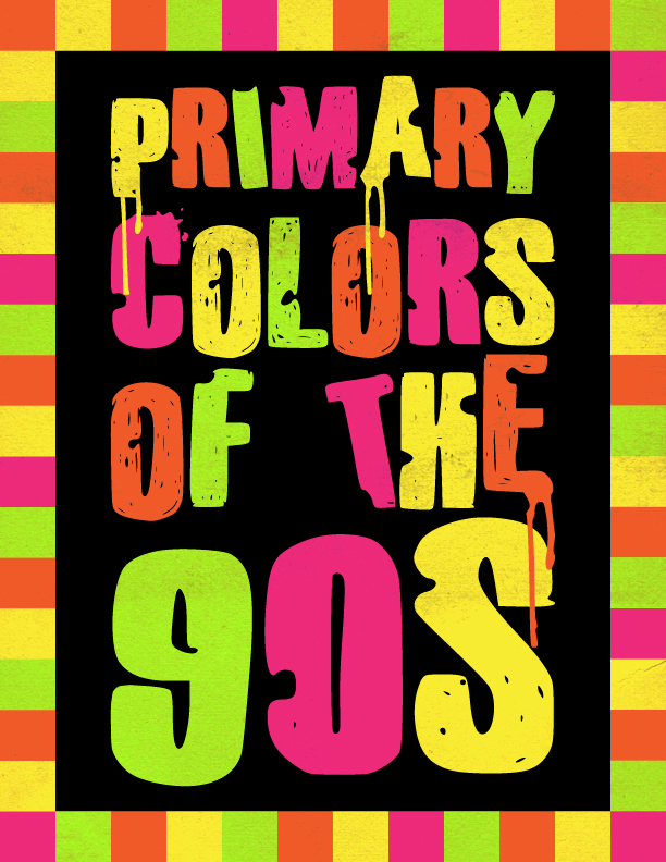 Metateens 90s color schemes for 90 s decoration ideas
