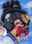 Luffy: Gomu Gomu No Elephant Gun by ACPuig