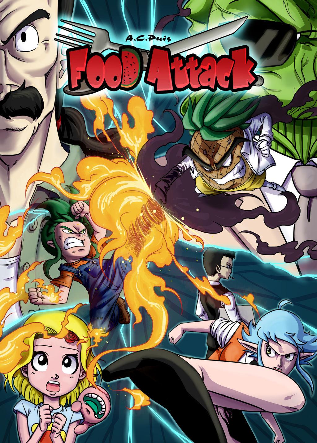 Food Attack: Portada del Volumen 2