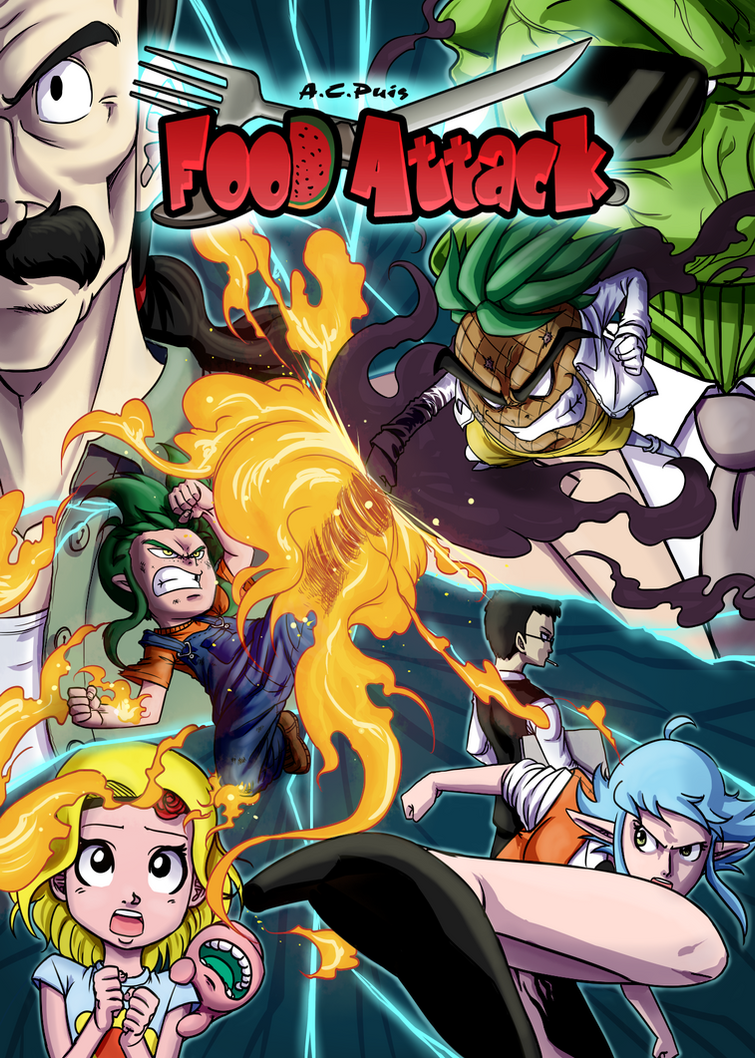 Food Attack: Portada del Volumen 2 by ACPuig