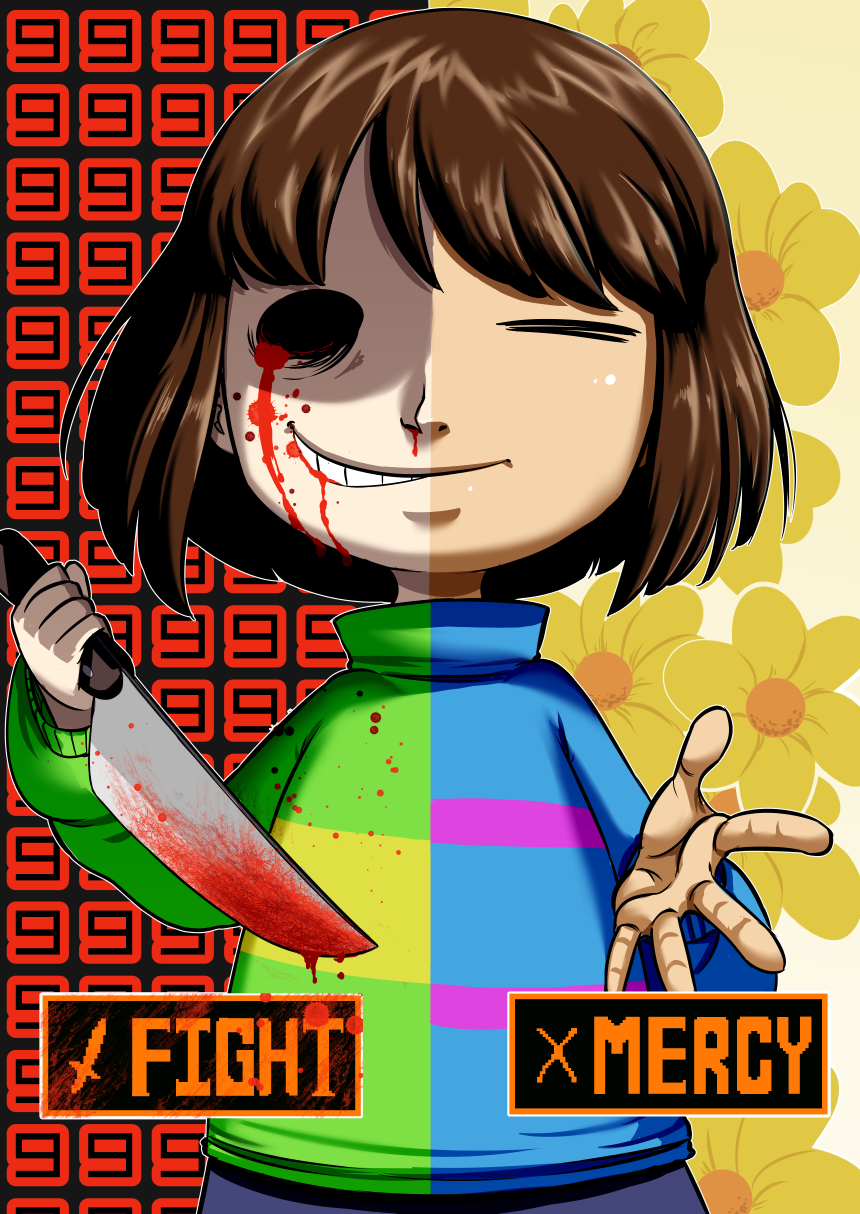 Undertale Frisk X Chara by ACPuig