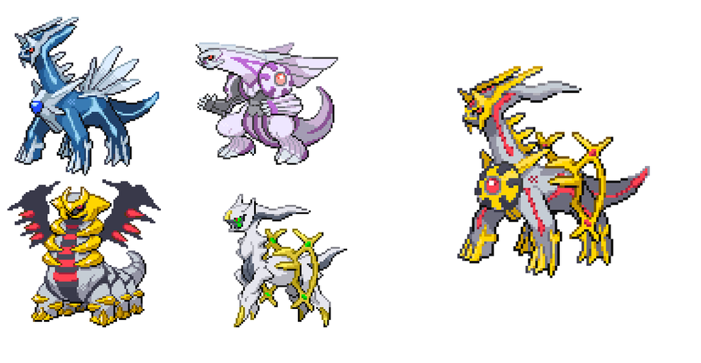 Dialga And Palkia Fusion FlamingCharizar...
