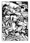 Inking Jack Kirby Conan INKS