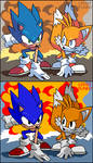 Sonic And Tails by LebbitBunny