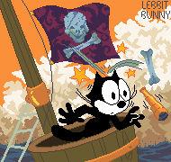 Felix the Cat Pirate Ship, Pixel Art
