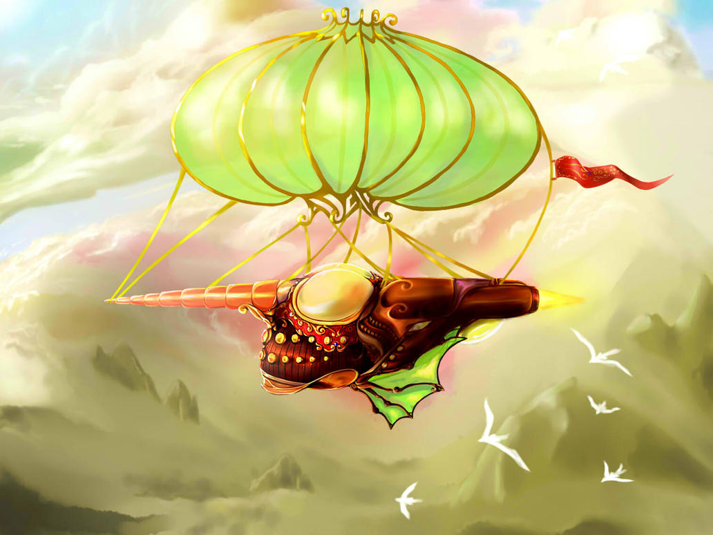 Airship by Uneleja