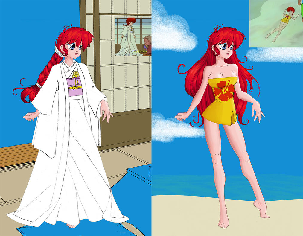 Ranma base for dress-up wedding dress and beach by cocodesbois on ...