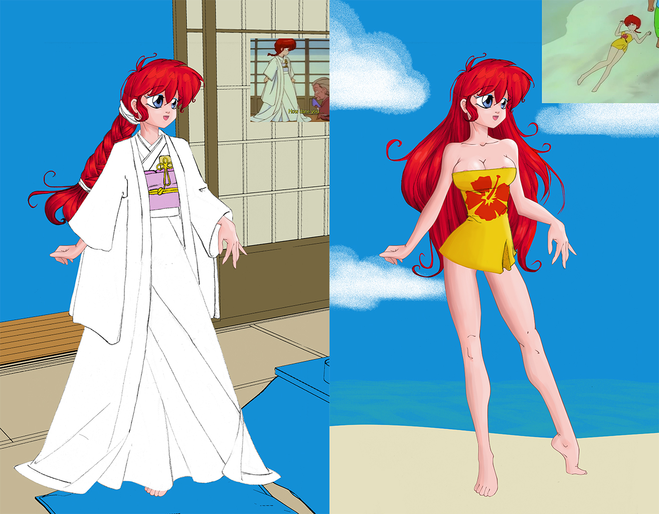 Ranma Base For Dress Up Wedding Dress And Beach By