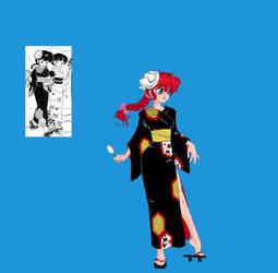 Ranma dressup with fancy kimono