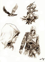 Altair sketches - w. shadows by Klussky