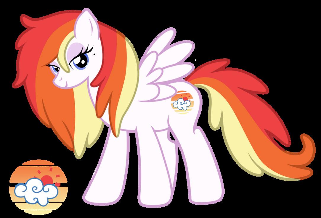 Rainbow Dash's Parents - Sunset Breeze by LugiaAngel
