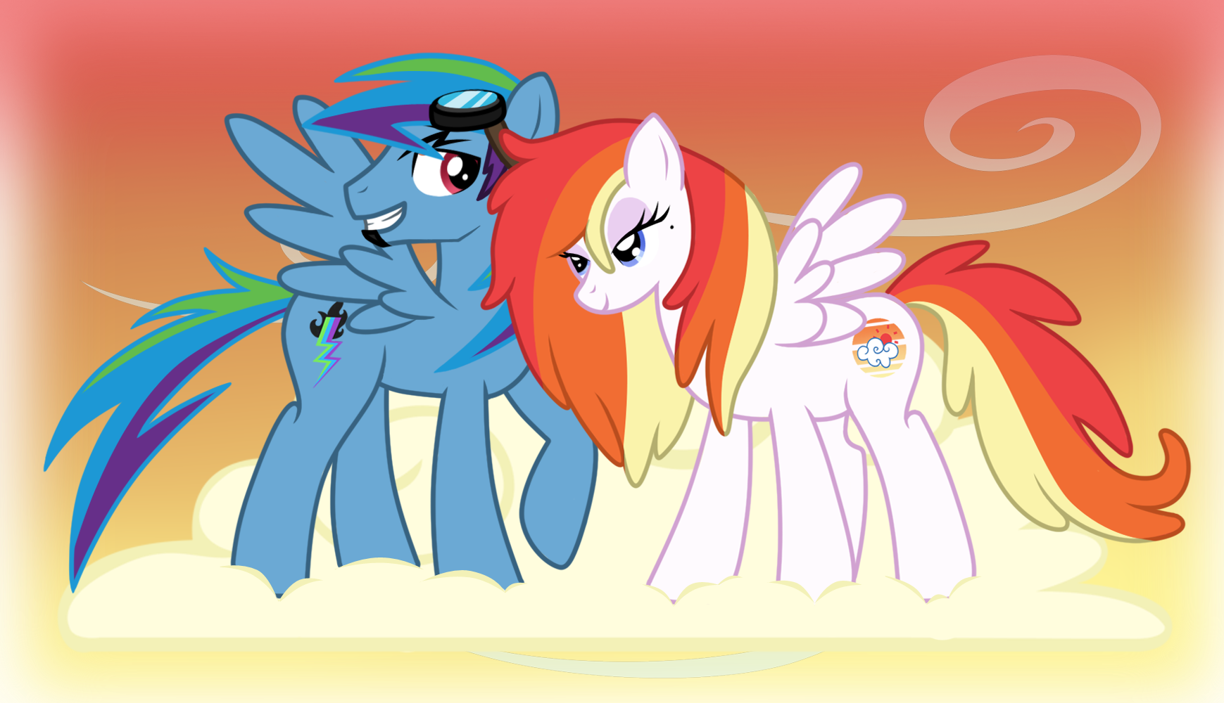 rainbow dashs parents when we were younger by