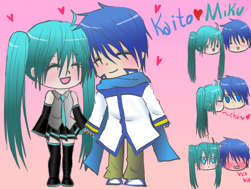 Vocaloid Miku And Kaito KissVocaloid Kaito And Miku Kiss