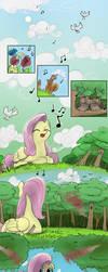 Origin Story: Fluttershy Pg. 1 by Dreatos