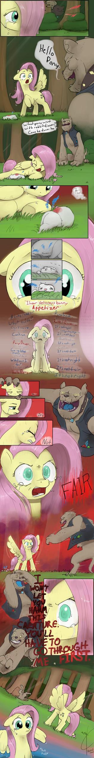 Origin Story: Fluttershy Pg. 2 by Dreatos