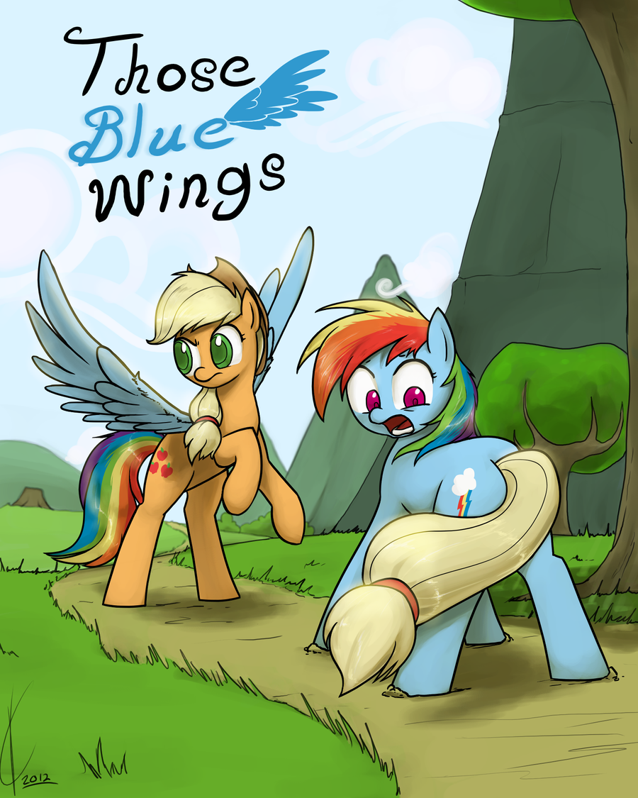 Commission:  Those Blue Wings by Dreatos