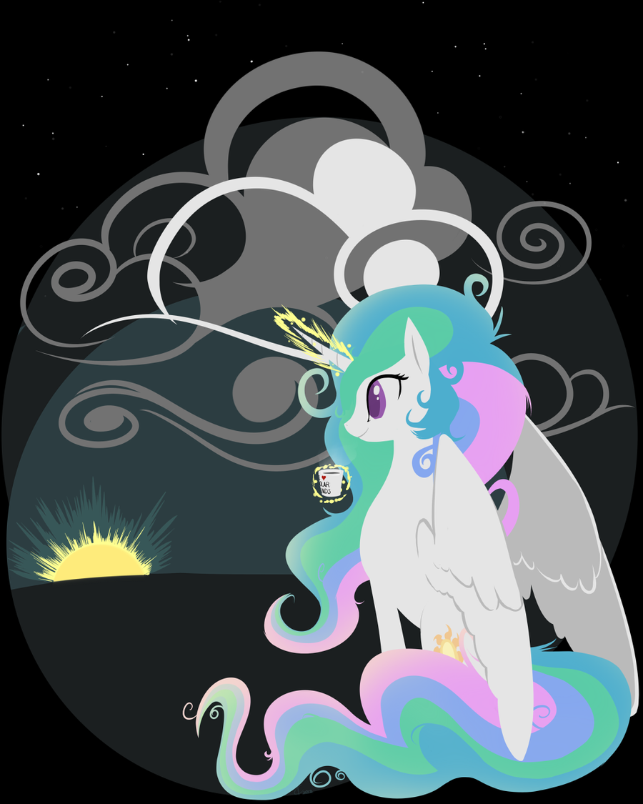 T-shirt design:  I'm a morning kind of pony. by Dreatos