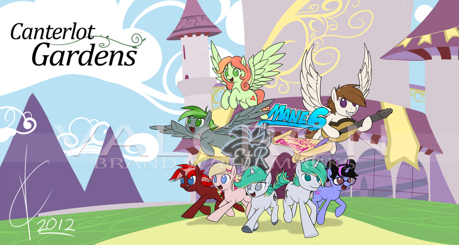 Commission: Canterlot Gardens Poster by Dreatos