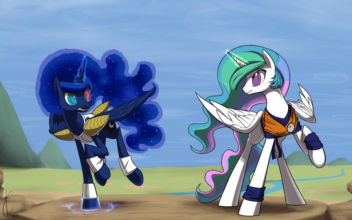 Pony Ball Z: Sisters divided!  Celestia v.s. Luna! by Dreatos