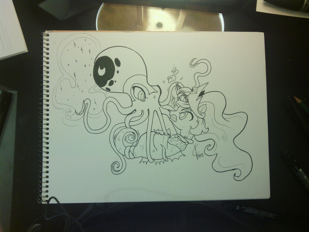 Nightmare Octopus and Princess Sealestia BATTLE! by Dreatos