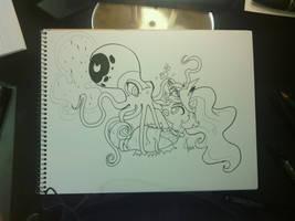 Nightmare Octopus and Princess Sealestia BATTLE! by Dreatos