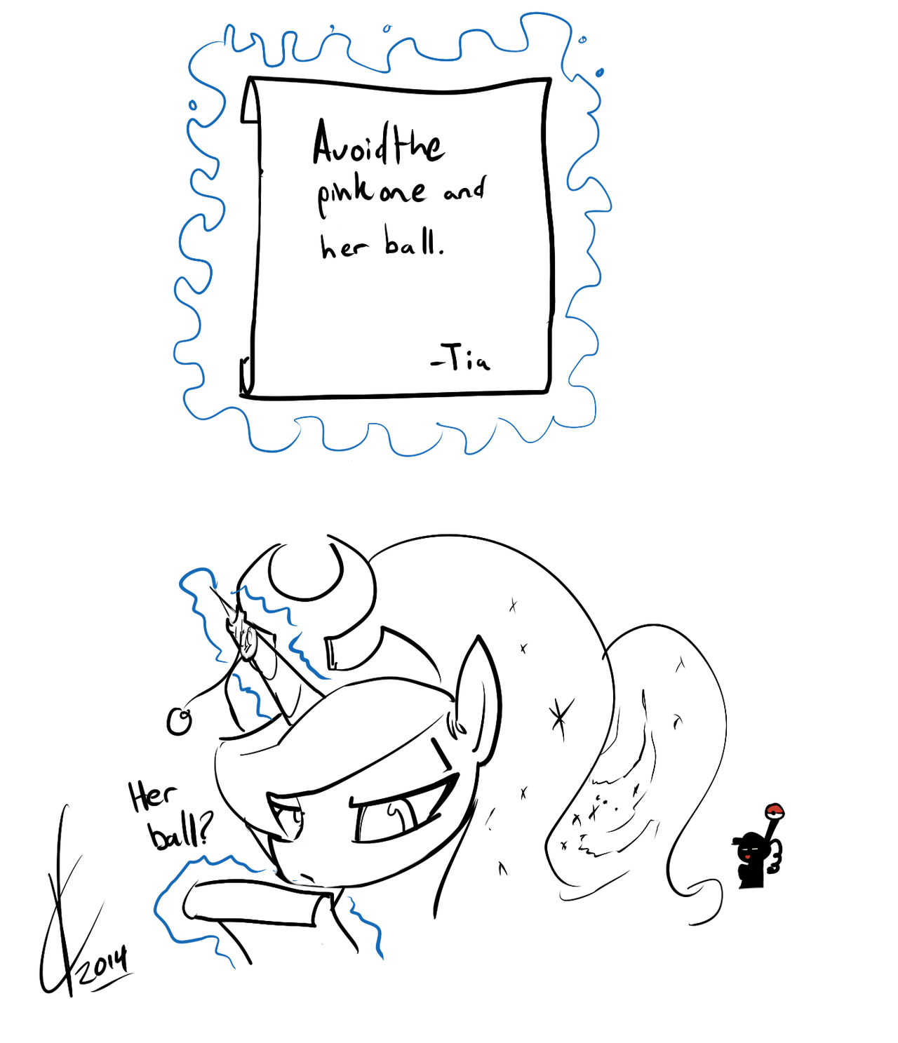 A wild Luna appears! by Dreatos