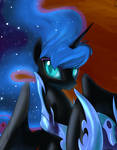 Take off your helmet, Nightmare Moon. by Dreatos