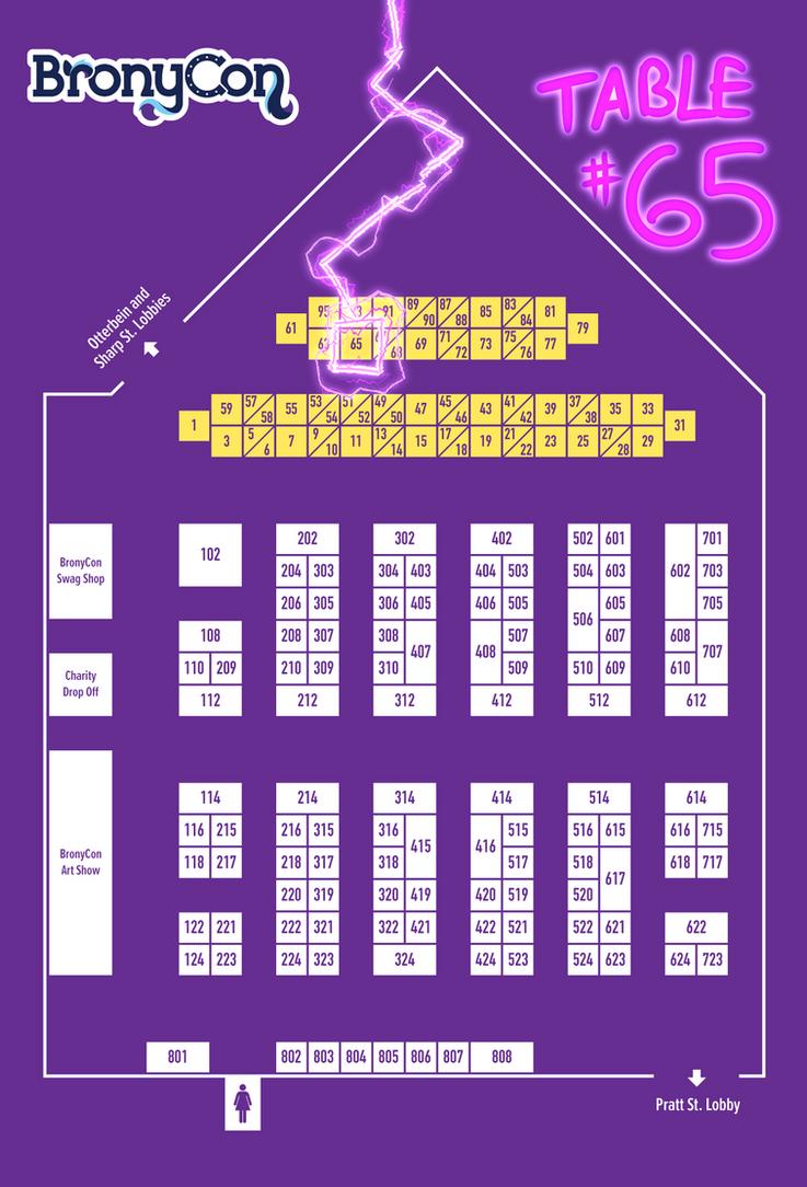 BronyCon 2017 map by Dreatos