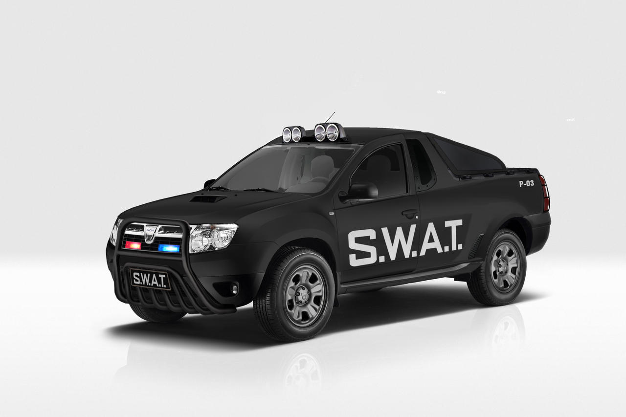 dacia duster pick up swat 01 by garyroswell007 on deviantart. Black Bedroom Furniture Sets. Home Design Ideas