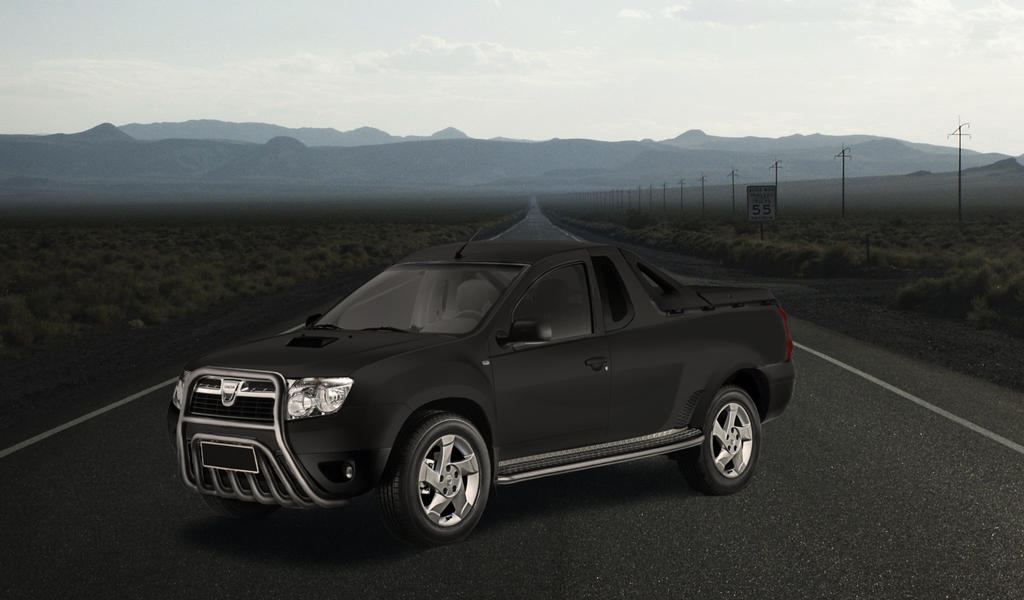 dacia duster pick up black by garyroswell007 on deviantart. Black Bedroom Furniture Sets. Home Design Ideas