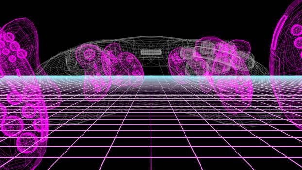 Gamepad Wireframe Dimension