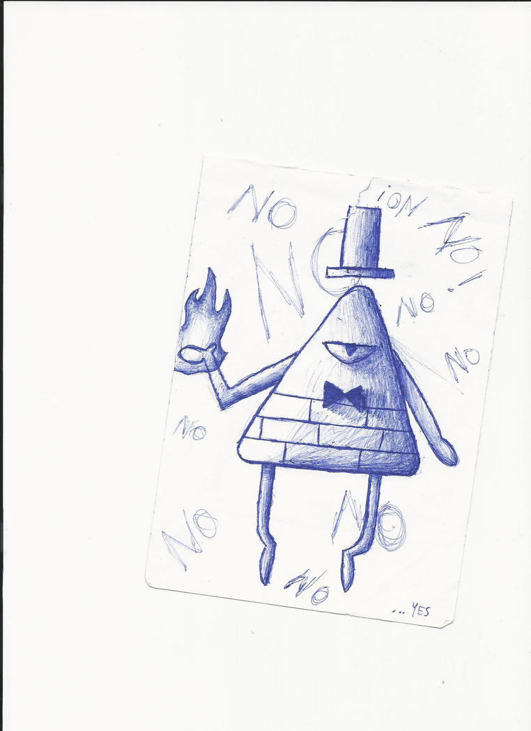 Draw Bill Cipher with the tip of a pen i found #3 by M1ntGr33n