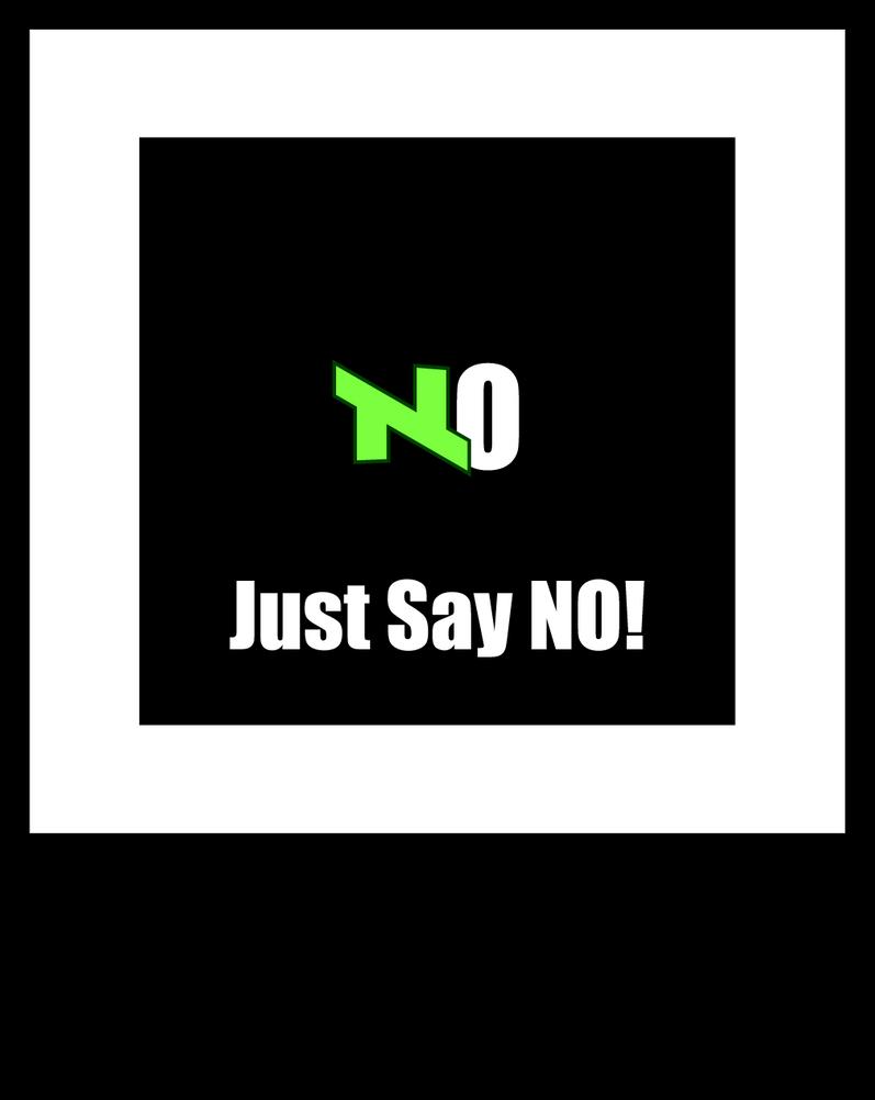 Logo Demotivational - Just say No by SlyFXZ
