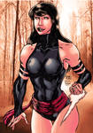 psylocke colored by Troiano