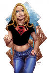 supergirl at superboy's clothes