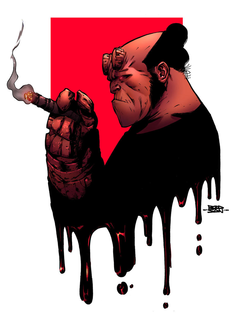 Hellboy Color - Rod San by adagadegelo