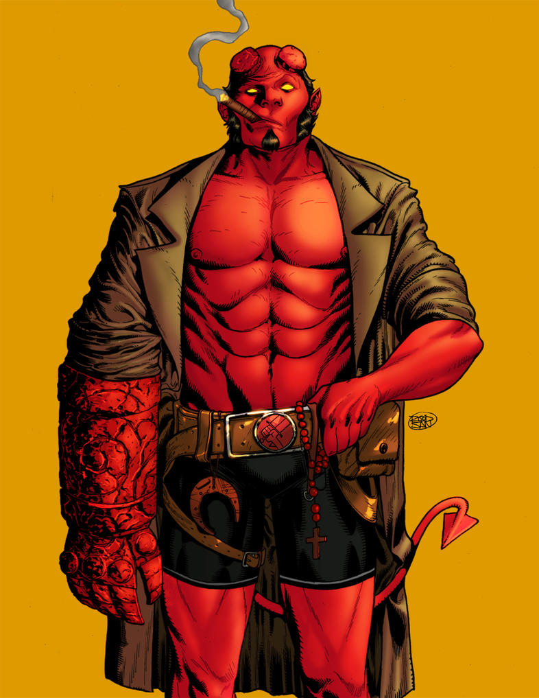Hellboy by adagadegelo