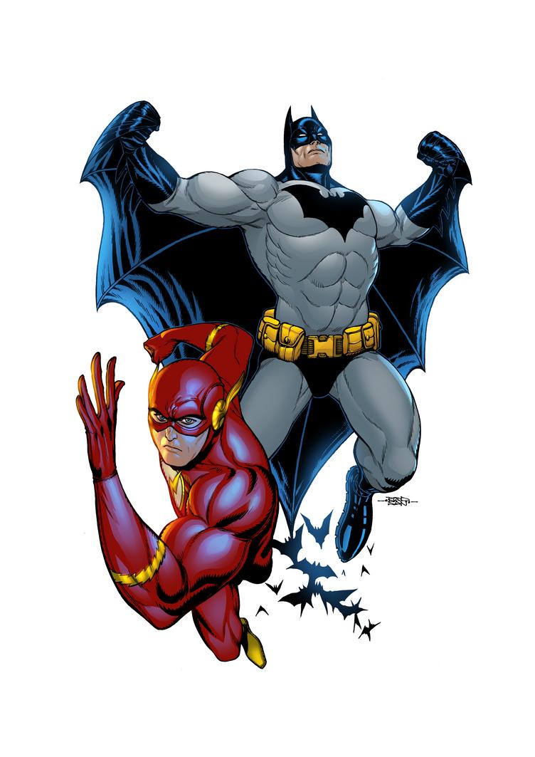 The Flash e Batman by adagadegelo