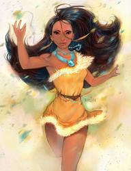 Pocahontas by adagadegelo