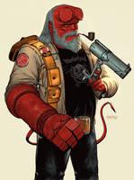 Old Hellboy by adagadegelo