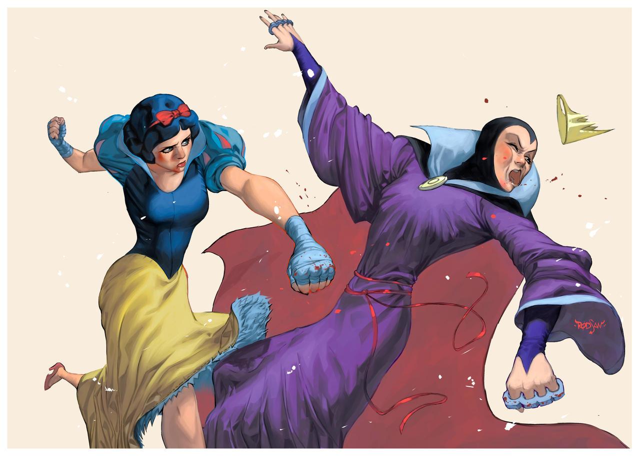 Commission Snow White X Evil Queen By Adagadegelo On Deviantart