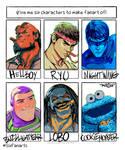 Six characters challenge