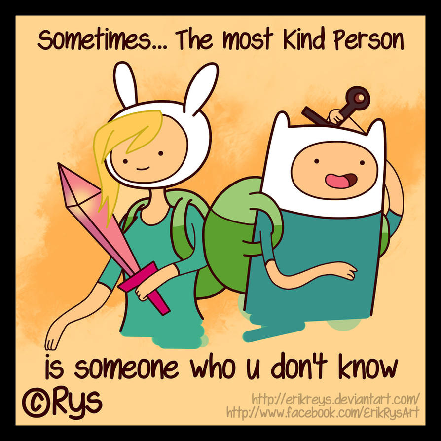 Fionna and Finn (The Most Kind Person) Rys by ErikReys