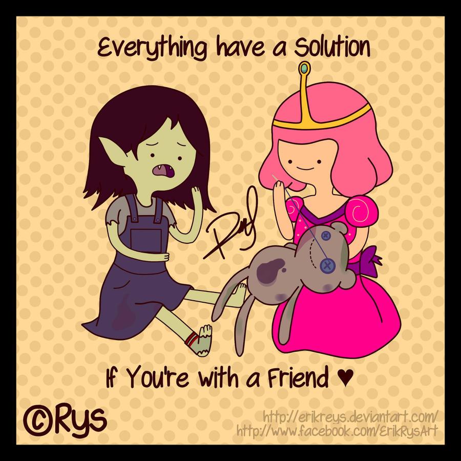 Marceline N Princes Bubblegum (With a Friend) Rys by ErikReys