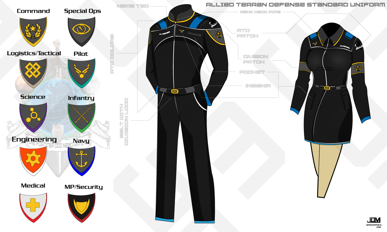 ATD Space Military Uniform by Apocryphea on DeviantArt