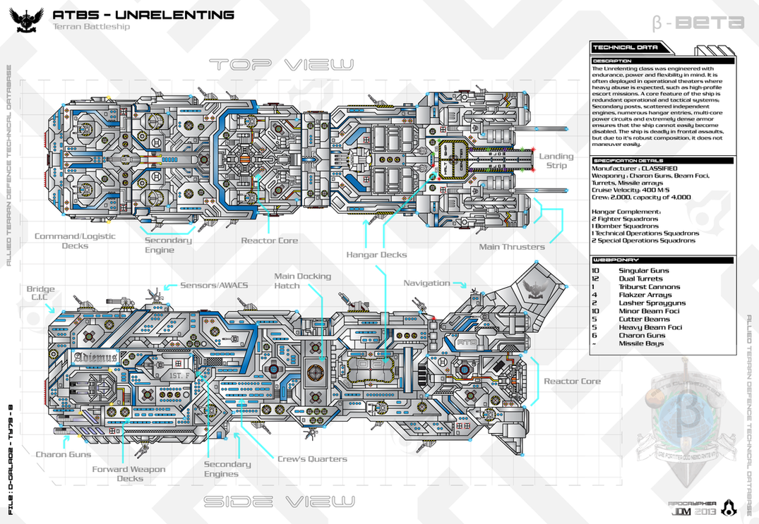 ATBS-Unrelenting Class Battleship by Apocryphea